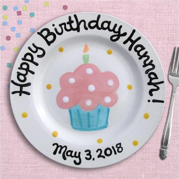 Kids Birthday Party - First Birthday - 1st Birthday - 2nd Birthday - Birthday Plate - Personalized - Birthday Girl - Personalized Ceramic