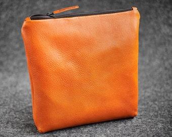 Leather Padded Headphones Bag Hand-made