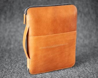 "Leather Travel Folio Organizer Portfolio Case iPad Pro 9.7"" 10.5"" 11"" Hand made KZNR"