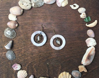 Aztec Style Hoops With Delicate Glass Affectation