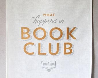 book club linen tea towel