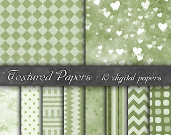 Digital Paper, backgrounds  green