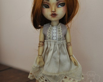 Rustic Lavender Dress for Blythe Licca Makies Dolls - Meadow Cottage Collection