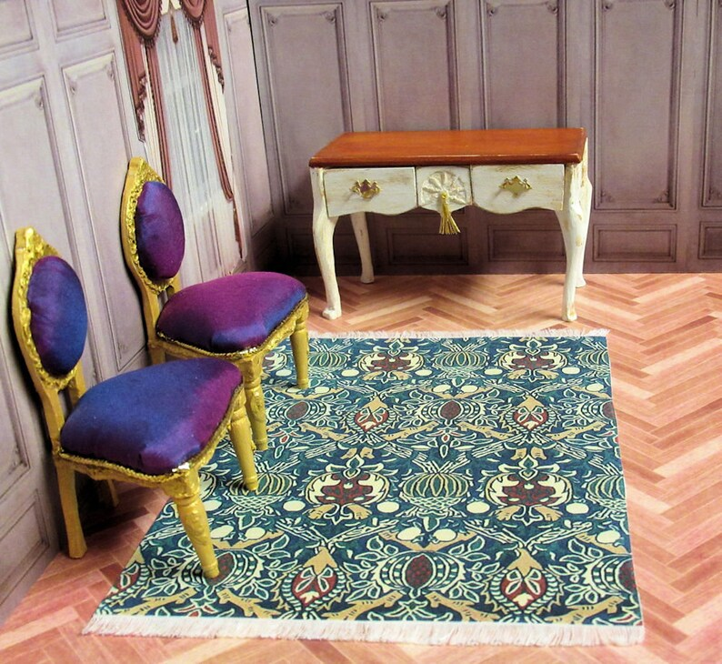 Alfombra de diseño De William Morris Granada impresa en ...