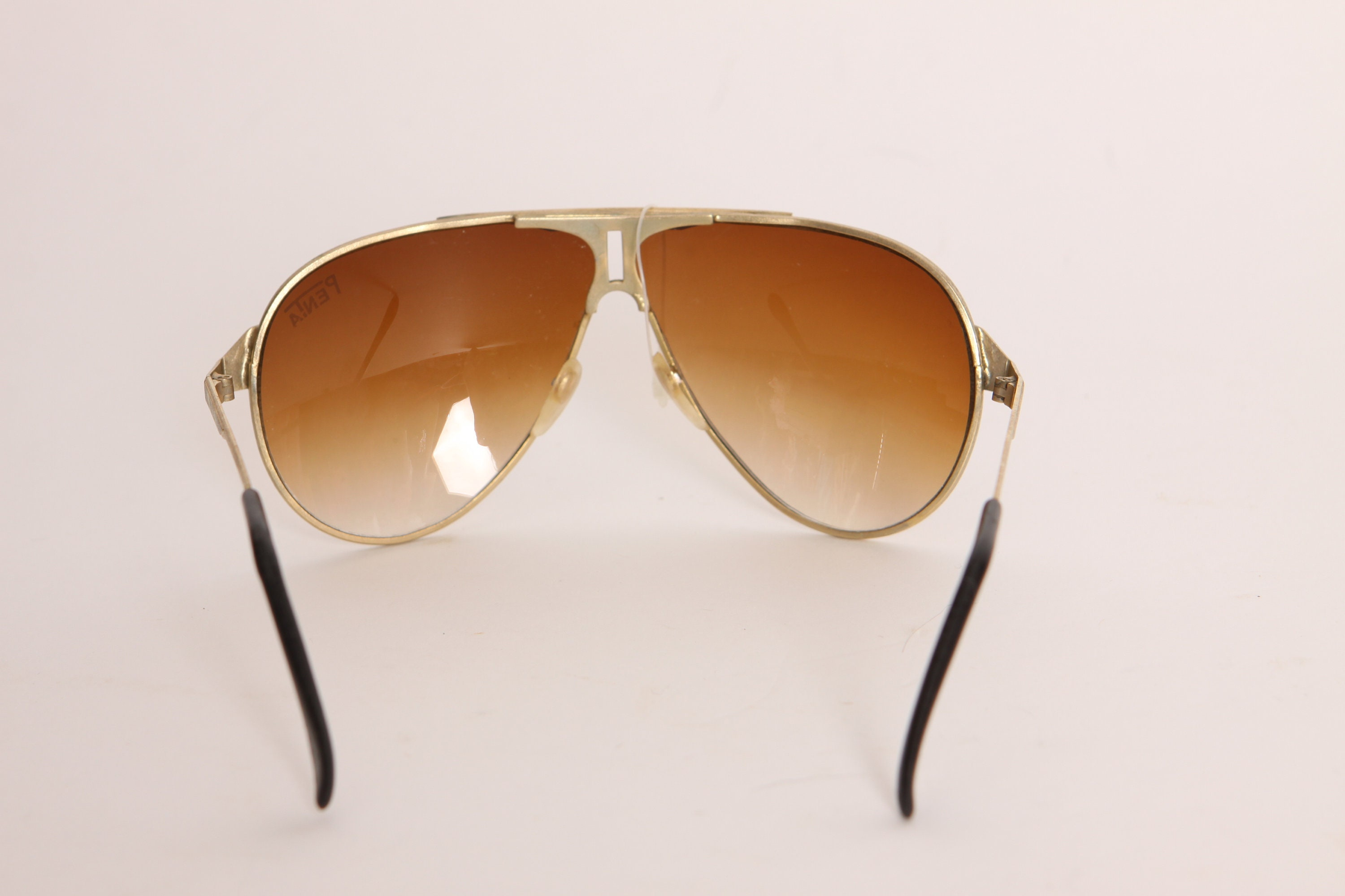 Deadstock 1970s Gold and Brown Aviator by Penta