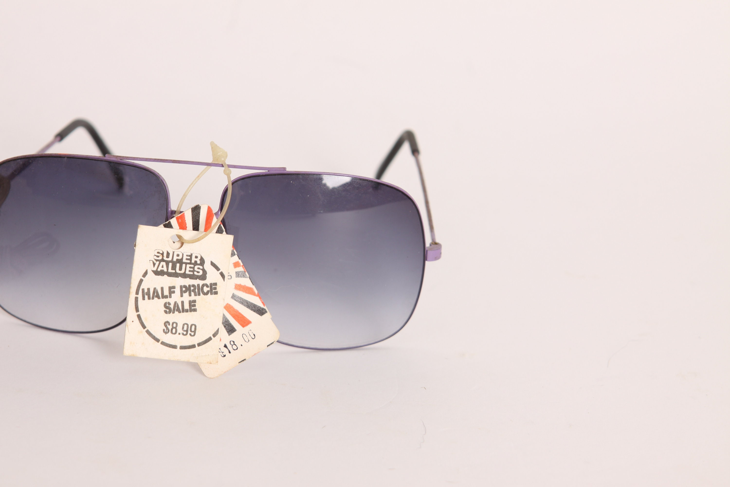 Deadstock 1970s Purple Frame and Gray Lenses Purple Chain
