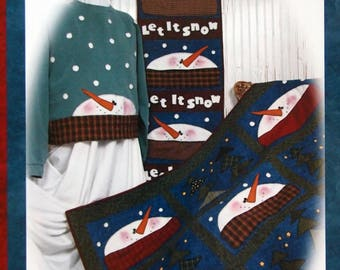 Let It Snow! Sweatshirt, Wallhanging, Quilt By Whistlepig Creek Productions #1101 Sewing Pattern Packet 2004