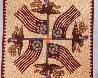 Liberty's Eagle By Barbara Brackman Wall Quilt Pattern Packet 2001