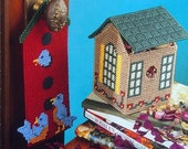 Birdhouse Decor By Michele Wilcox And Annie 39 s Attic Vintage Plastic Canvas Leaflet 1996