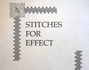 Stitches For Effect By Suzanne Howren And Beth Robertson Vintage Paperback Spiral-Bound Needlepoint Pattern Book 1996