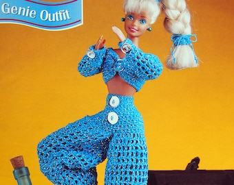 Genie Outfit By Peggy Longshore And Annie's Fashion Doll Crochet Club Vintage Crochet Pattern Page 1997