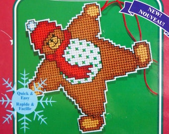 Star Bear By Ursula Michael And Janlynn Unopened Plastic Canvas Counted Cross Stitch Ornament Kit 2002