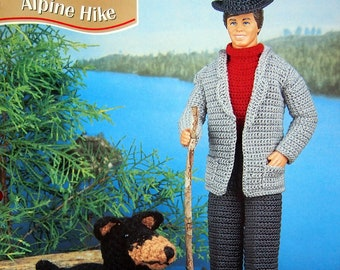 Alpine Hike By Juanita Turner, Stephen Reedy And Annie's Fashion Doll Crochet Club Vintage Crochet Pattern Leaflet 1996