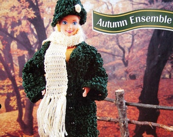 Autumn Ensemble By Elizabeth White And Annie's Fashion Doll Crochet Club Vintage Crochet Pattern Page 1997