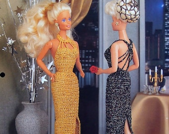 All That Glitters... By Juanita Turner And Annie's Fashion Doll Crochet Club Vintage Crochet Pattern Leaflet 1995