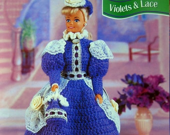 Violet & Lace By Joyce Bishop And Annie's Fashion Doll Crochet Club Vintage Crochet Pattern Leaflet 1996