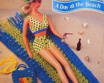 A Day At The Beach By Deborah Levy-Hamburg And Annie's Fashion Doll Crochet Club Vintage Crochet Pattern Page 1995