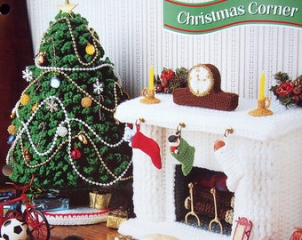 Christmas Corner By Mickie Akins And Annie's Fashion Doll Crochet Club Vintage Crochet Pattern Leaflet 1996