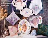 Elegant Gift Ideas By Bucilla Vintage Silk Ribbon Embroidery Booklet 1994