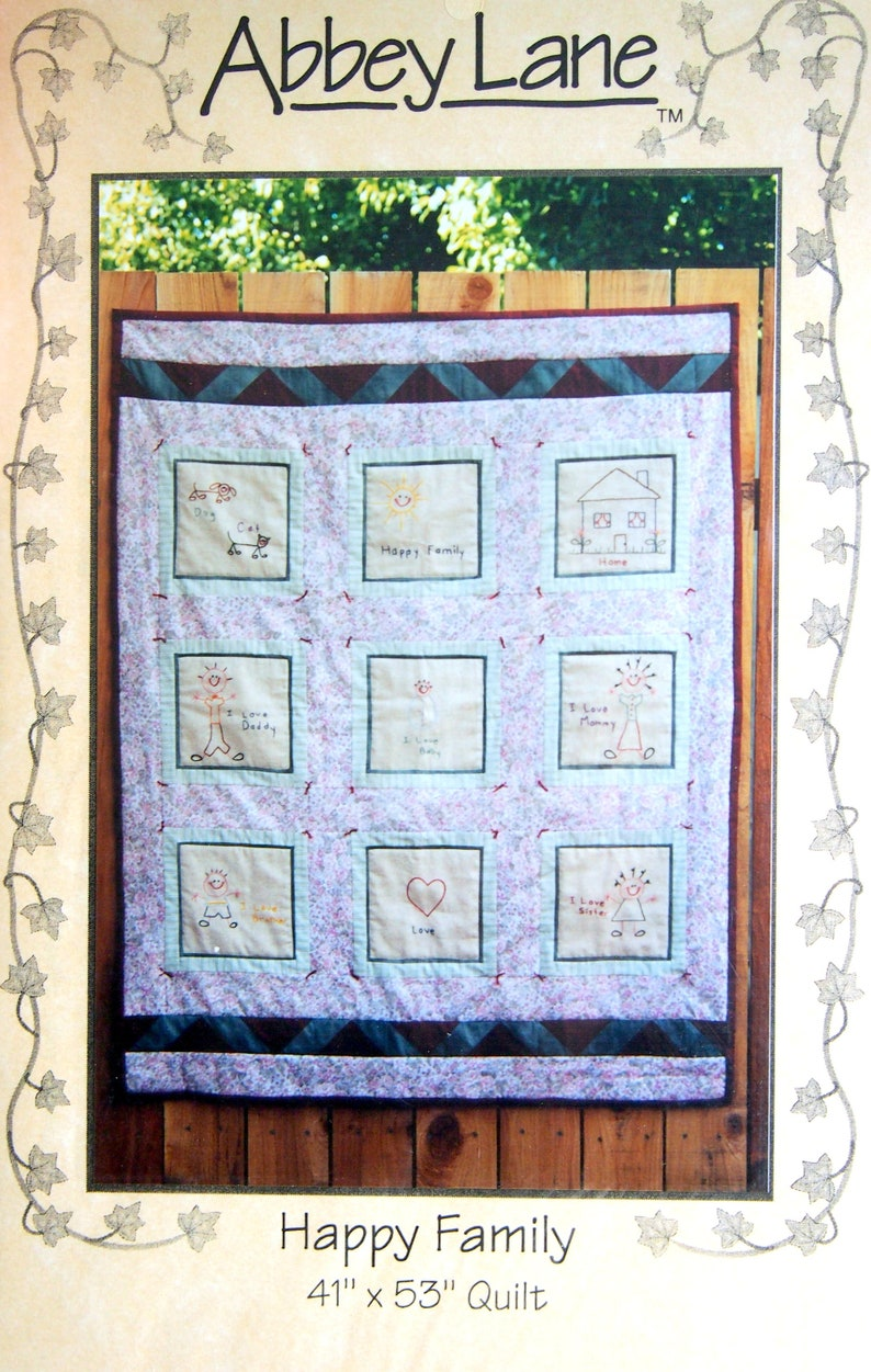 Happy Family By Valarie Seaman And Abbey Lane Embroidery And image 0