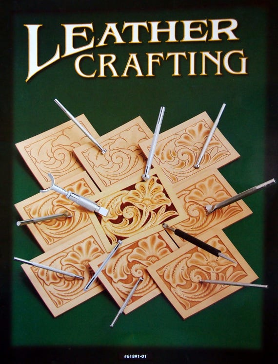 Leather Crafting By Tandy Leather Leathercraft Booklet 2005 Etsy