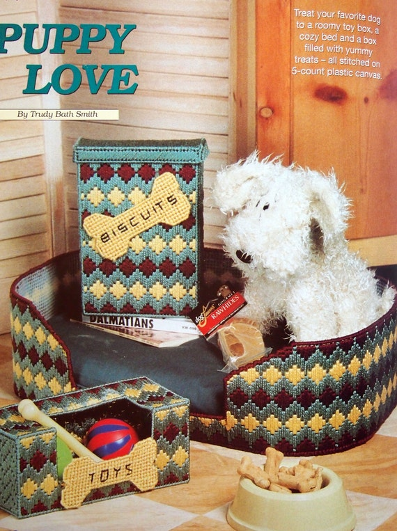 Plastic Canvas Pattern or Kit Bichon Frise Dog Welcome Sign
