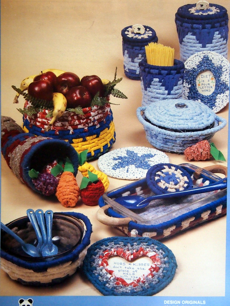 Kitchen Containers Rugpoint Rag Baskets By Suzanne McNeill image 0
