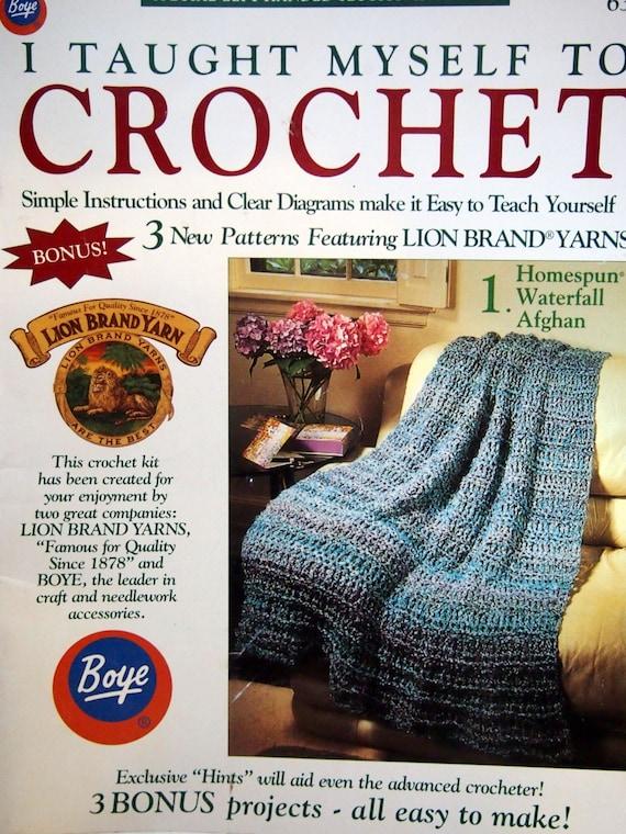 I Taught Myself To Crochet By Boye Vintage Crochet Pattern | Etsy