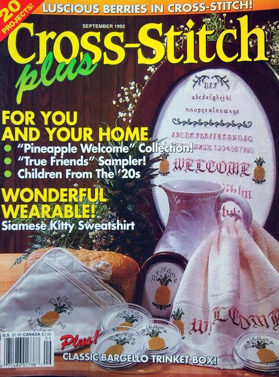 Cross Stitch Plus Vintage Cross Stitch Pattern Magazine September 1992