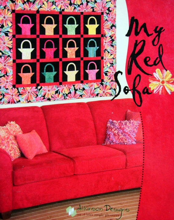 My Red Sofa By Terry Atkinson And Atkinson Designs Quilt Etsy
