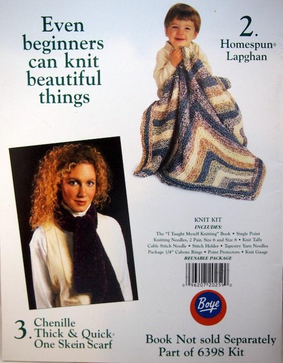 I Taught Myself Knitting By Boye And Lion Brand Yarn Vintage Etsy