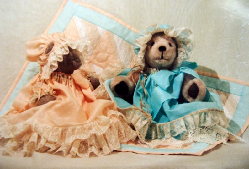 Le Bear Duds Dress, Bonnet & Bear Blanket By H M  Wyant For The Radley  House OOP Vintage Sewing Pattern Packet 1988