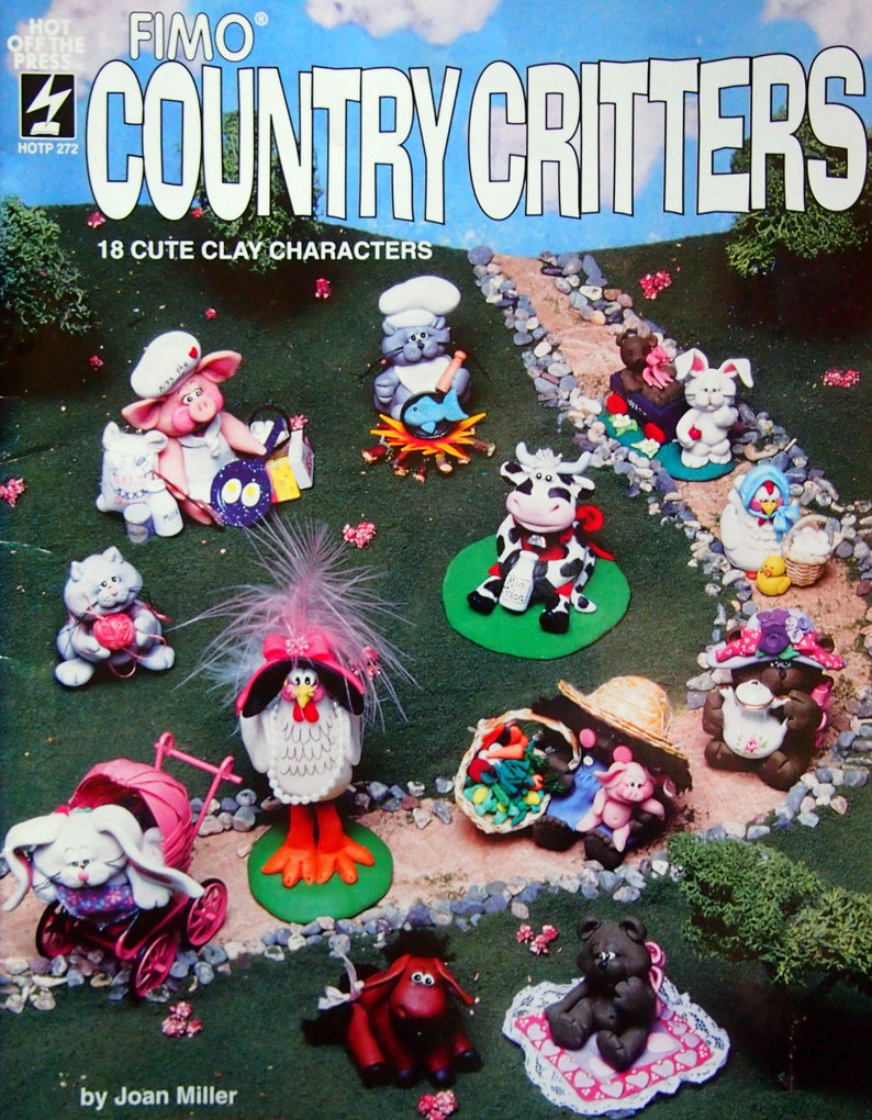 Fimo Country Critters By Joan Miller Vintage Fimo Clay Pattern image 0