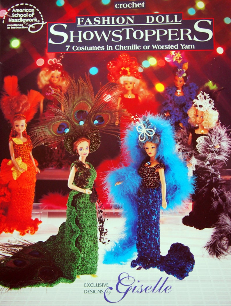 Fashion Doll Showstoppers 7 Costumes In Chenille Or Worsted image 0