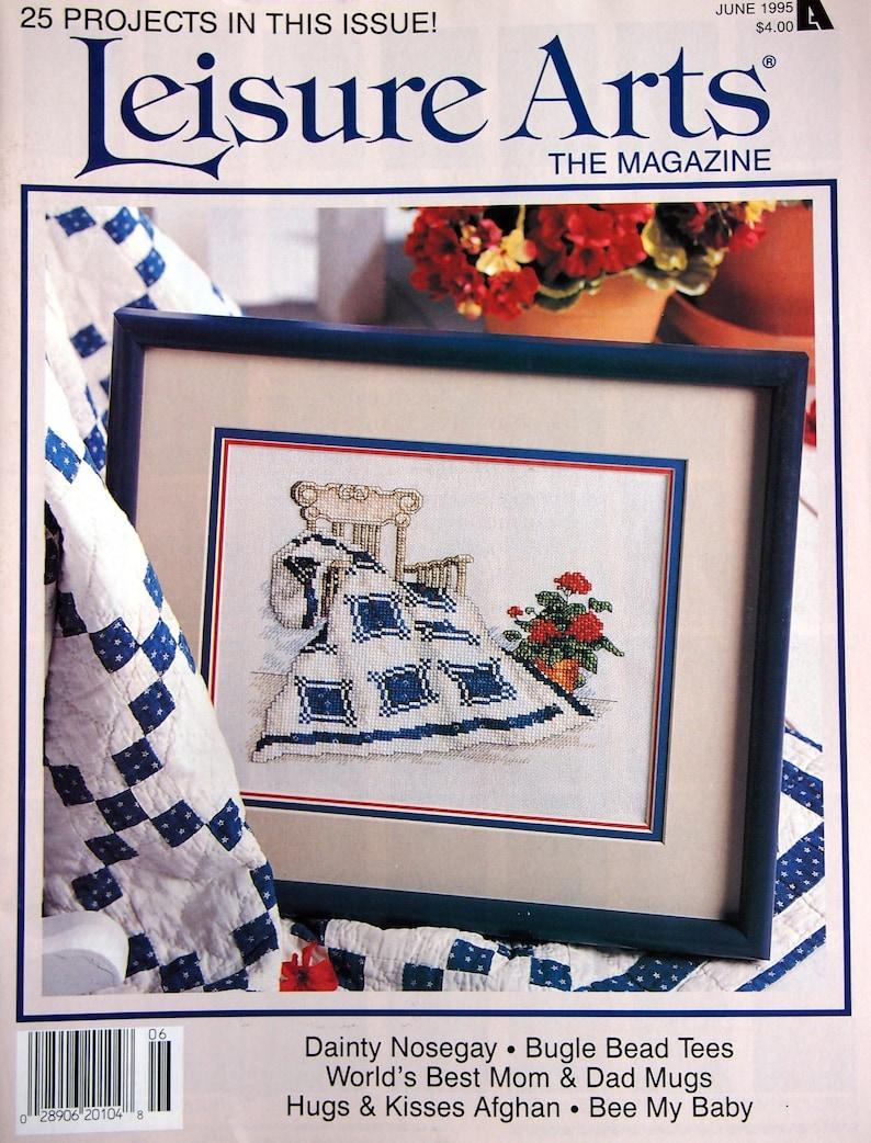 Leisure Arts The Magazine Vintage Cross Stitch And Craft image 0