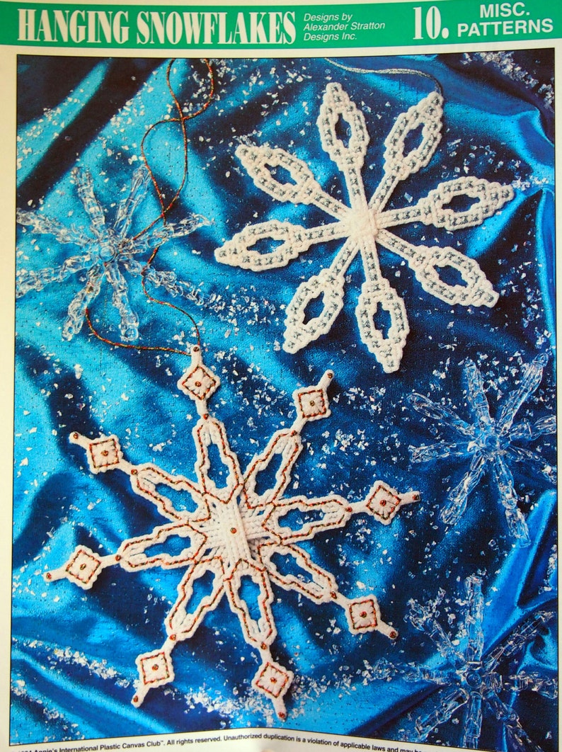 Hanging Snowflakes By Alexander Stratton And Annie's Attic image 0
