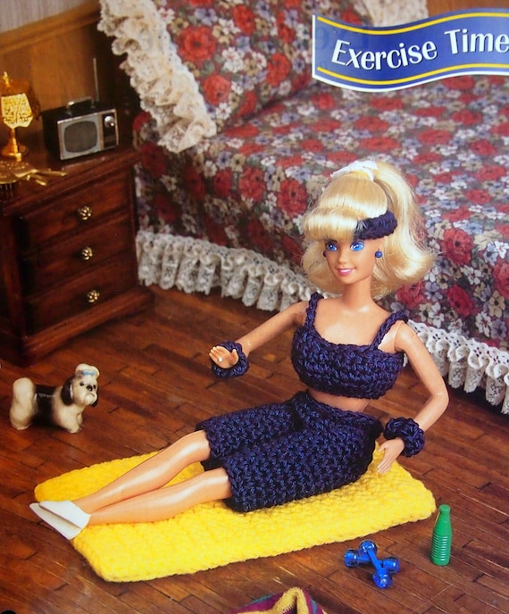 Country Woven Rug ~ fits Barbie dolls Annie/'s crochet pattern leaflet