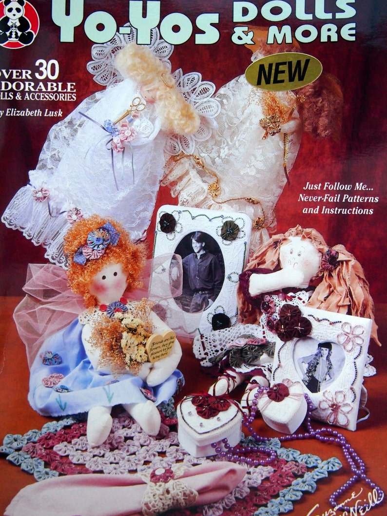 Yo-Yos Dolls & More By Elizabeth Luck Vintage Sewing Pattern image 0
