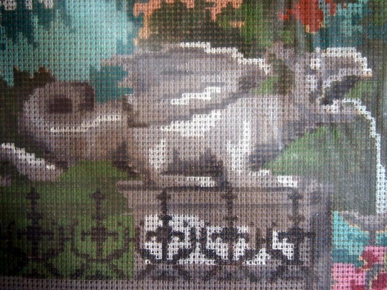Gargoyle Fountain By Wiener Mill Handarbeit Austrian Needlepoint Kit Undated
