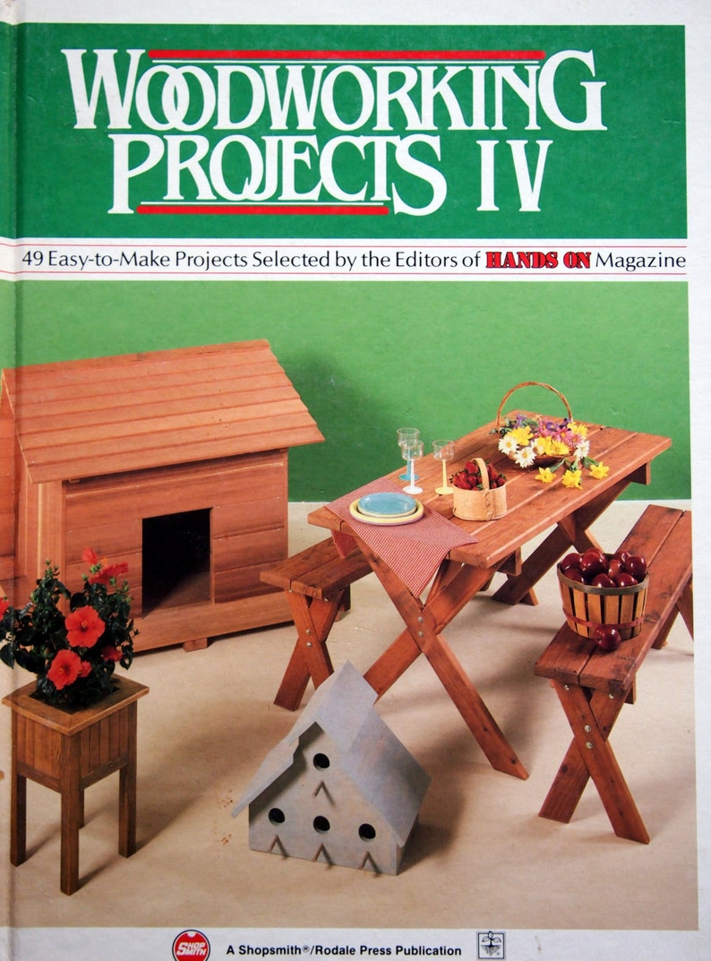 woodworking projects ivhands on magazine vintage woodworking project  book 1988