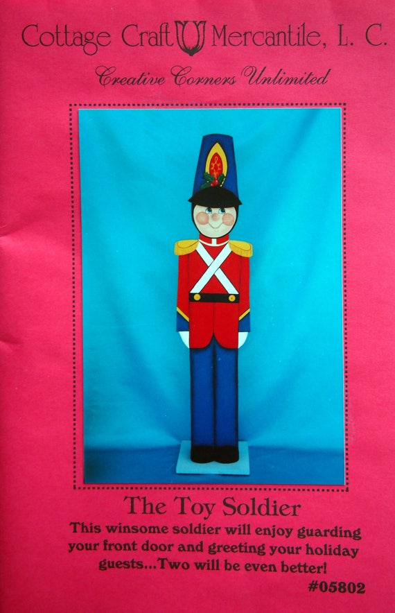 The Toy Soldier By Cottage Craft Mercantile L C Vintage Tole Etsy