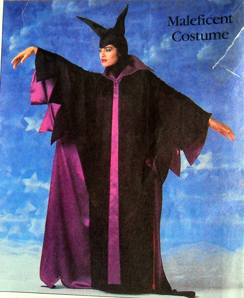 Misses/' Maleficent Costume Size Small Simplicity 8329 Vintage Uncut Sewing Pattern 1987