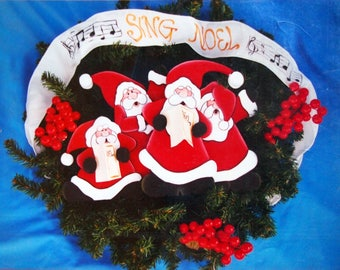 Caroling Santas By Karen Wood And Best Friends Designs Vintage Tole And Decorative Painting Pattern 1996