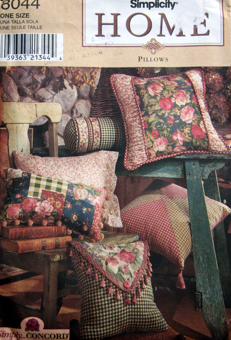 Pillows In Twelve Styles By Simplicity Home 8044 Uncut Sewing image 0
