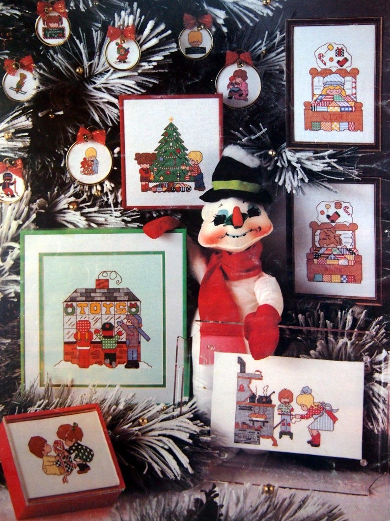 Charted Christmas Kids By Rachel Crissinger Vintage Cross image 0