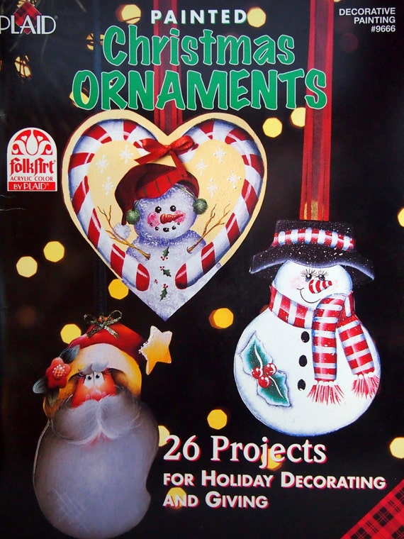 image 0 - Painted Christmas Ornaments By Plaid Tole And Decorative Etsy