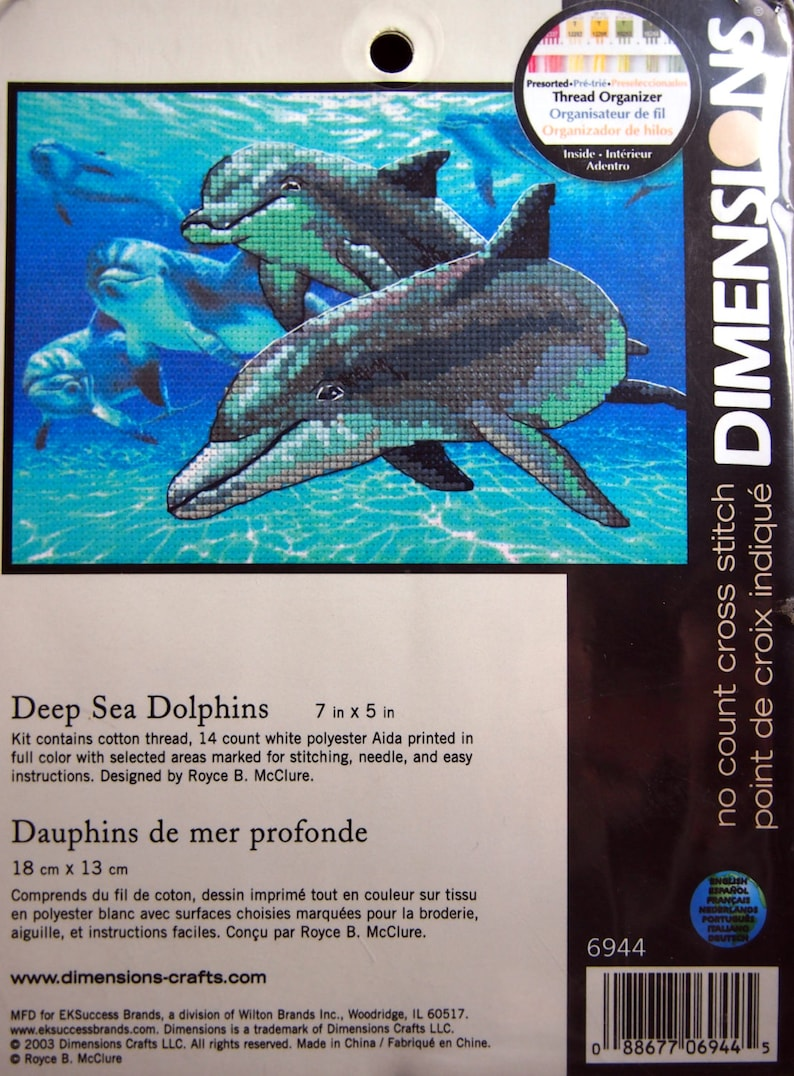 Deep Sea Dolphins By Royce B. McClure And Dimensions Unopened image 0