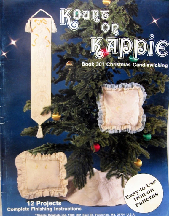 Christmas Candlewicking 60 Projects By Kount On Kappie Book Etsy Unique Candlewicking Patterns