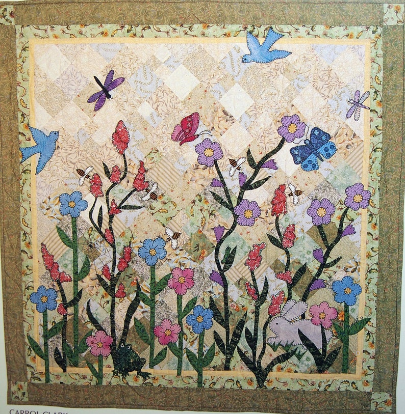 Through The Garden Gate By Jean Valori Wells Paperback Quilt Etsy