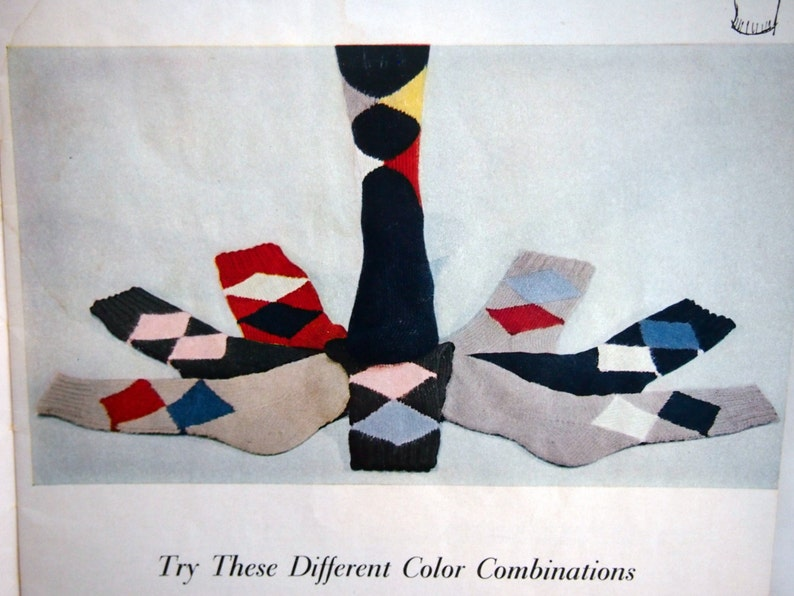 Vintage Knitting Leaflet 1955 118 By The American Thread Co Socks Star Book No